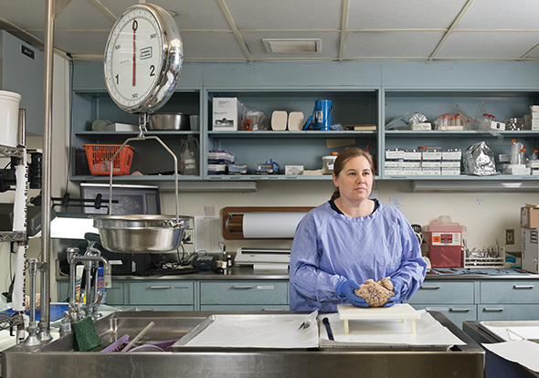The Brain Bank's Julia Kofler makes characterized tissue available to labs throughout the world.
