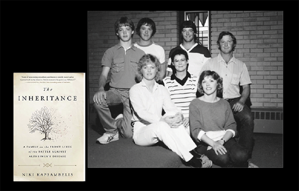 The DeMoe siblings with their mother in 1986. Back row, from left: Jamie, Doug, Dean, and Brian. Front row: Karla, Gail (their mom), and Lori. Karla was the only sibling who tested negative for the gene for early onset Alzheimer's.