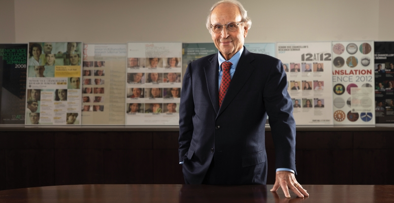 Early on in his deanship, Art Levine (shown here) proclaimed that every Pitt Med student would pursue a long-term research project. Ideas like this—initially met with skepticism—are now advancing biomedicine and have distinguished the school and its graduates.