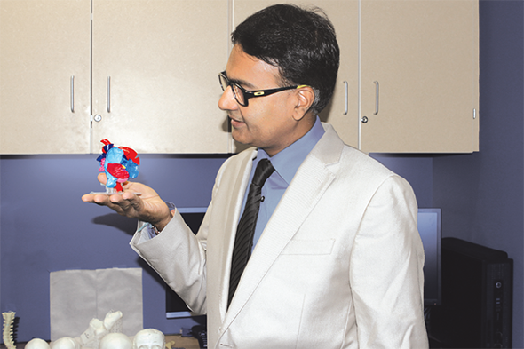 Three-dimensional printed models of tissues, bones and organs are helping reduce the operative time at Children's, thanks to Darshit Thakrar's team. (Photo courtesy Thakrar)
