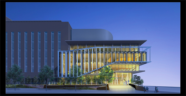 Sixty-five years after breaking ground for Scaife Hall, Pitt readies for a renovation and expansion that's fit for the future of med ed. Architectural renderings by Payette for the University of Pittsburgh. (Note: These renderings are not final.)