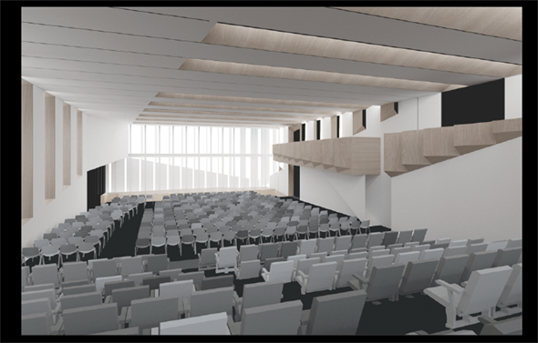 Large lecture room.