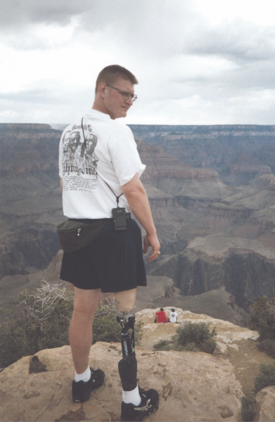 Weiss at the Grand Canyon in 1998.