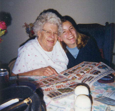 "Many people say, ""I don't want to be a vegetable""—Gram backed that up with documentation and conversations. This photo was taken in the spring of 2004, shortly before she died of a stroke."