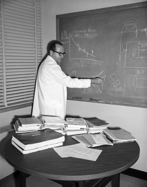 The late Ernest Sternglass was known for his studies in low-light imaging, radiology, theoretical physics, and the dangers of radiation exposure to infants and others. His congressional testimony helped ban nuclear bomb testing. | Photo courtesy University of Pittsburgh Archives
